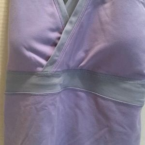 lululemon athletica Tops - LULULEMON PERIWNKLE stretch gray mesh Empire TOP 6